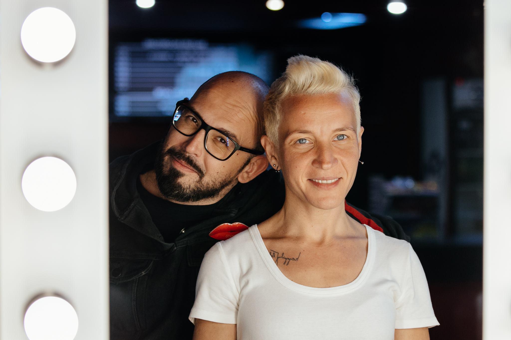 Ilinca Belciu (coordonator distribuție, producător) & Cătălin Anchidin (PR Manager)