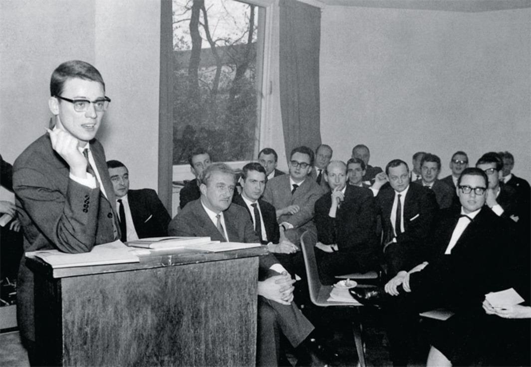 Alexander Kluge prezinta Manifestul de la Oberhausen, 1962.