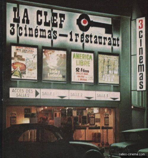 Cinema La Clef, în anii 1970.