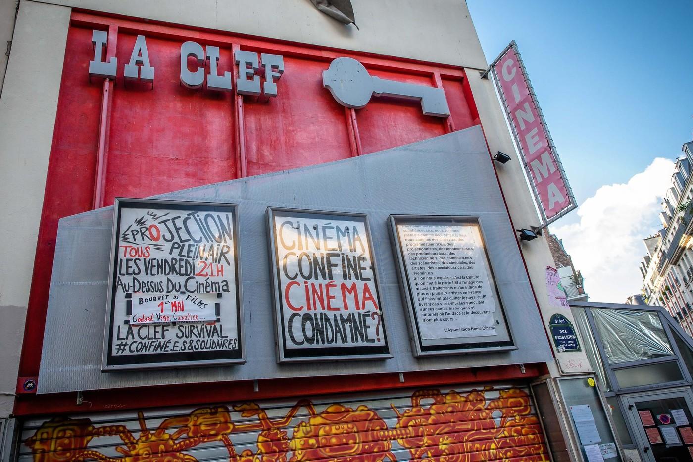 Cinema La Clef, pe durata lockdown-ului.